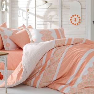 Постельное белье Hobby Home Collection LISA хлопковый поплин персиковый семейный