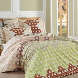 Постельное белье Hobby Home Collection MARSELLA хлопковый поплин коричневый 2-х спальный