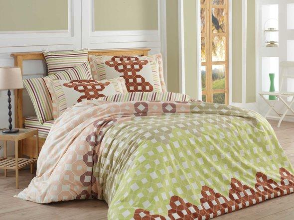 Комплект постельного белья Hobby MARSELLA поплин хлопок (коричневый) семейный, фото, фотография
