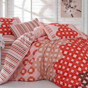 Постельное белье Hobby Home Collection MARSELLA хлопковый поплин красный 1,5 спальный