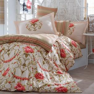 Постельное белье Hobby Home Collection ORNELLA хлопковый поплин золотой 2-х спальный