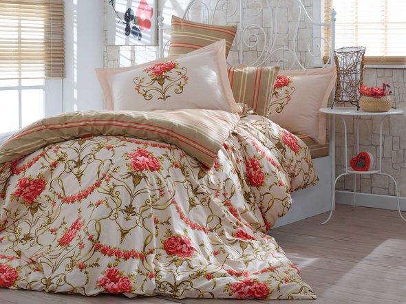 Комплект постельного белья Hobby ORNELLA поплин золотой 2-х спальный, фото, фотография