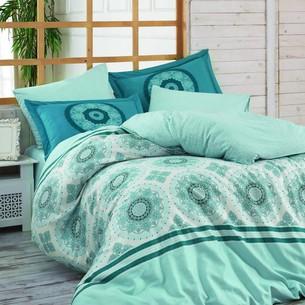 Постельное белье Hobby Home Collection SILVANA хлопковый поплин синий 2-х спальный