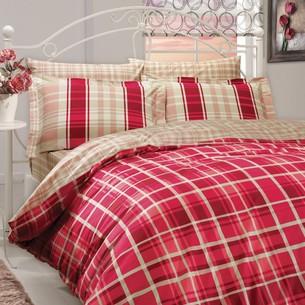 Постельное белье Hobby Home Collection SUELITA хлопковый поплин красный 2-х спальный