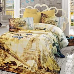 Постельное белье Hobby Home Collection VIVALDI хлопковый поплин золотой евро