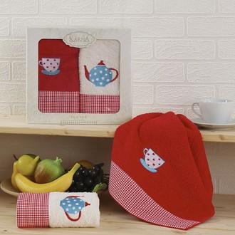 Набор полотенец Karna TEA SET красный