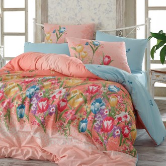 Комплект постельного белья Hobby BIANCA ранфорс розовый