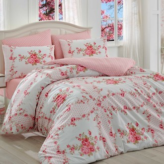 Комплект постельного белья Hobby GLORIA ранфорс розовый