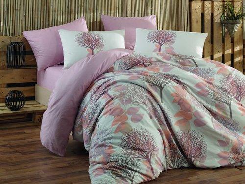 Постельное белье Hobby Home Collection LORELLA хлопковый ранфорс персиковый 1,5 спальный, фото, фотография