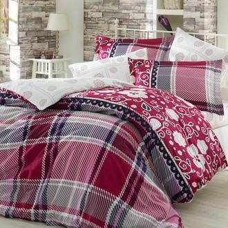 Комплект постельного белья Hobby MONICA сатин бордовый