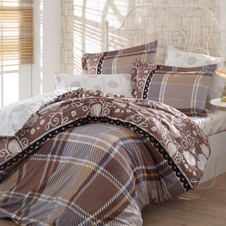 Комплект постельного белья Hobby MONICA сатин коричневый