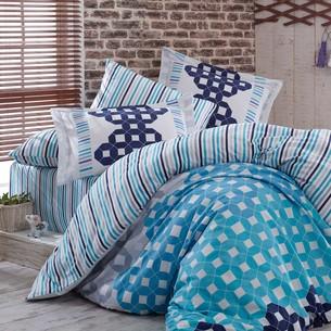 Постельное белье Hobby Home Collection MARSELLA хлопковый сатин голубой евро