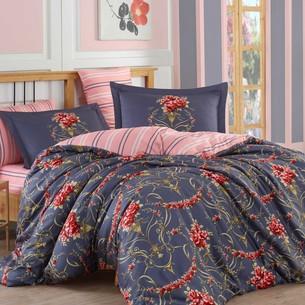 Постельное белье Hobby Hobby Collection ORNELLA хлопковый сатин красный 1,5 спальный