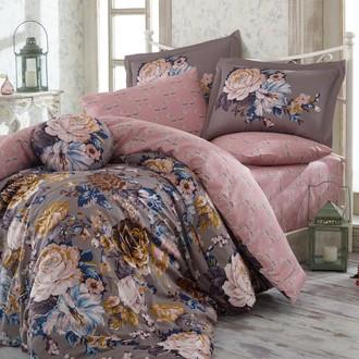 Комплект постельного белья Hobby ROSANNA сатин серый