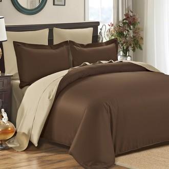 Комплект постельного белья Modalin SANFORD коричневый+бежевый