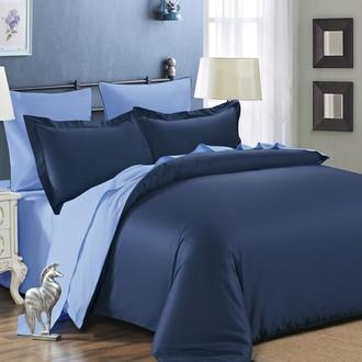 Комплект постельного белья Modalin SANFORD парламент+светло-голубой