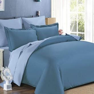 Комплект постельного белья Modalin SANFORD синий+серый