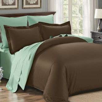 Комплект постельного белья Modalin SANFORD коричневый-зелёный