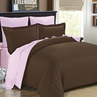 Комплект постельного белья Modalin SANFORD коричневый-пудра