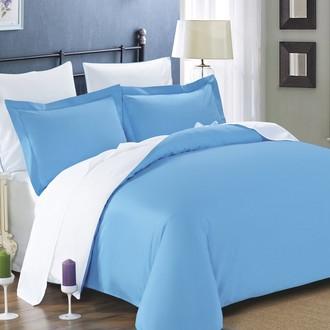 Комплект постельного белья Modalin SANFORD бирюзовый+белый