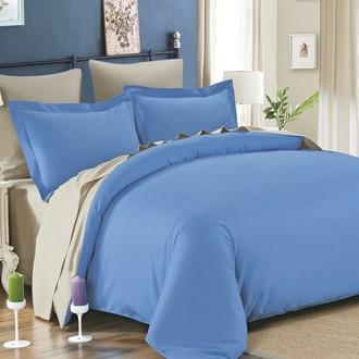 Комплект постельного белья Modalin SANFORD голубой+бежевый