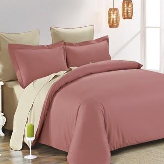 Комплект постельного белья Modalin SANFORD грязно-розовый+бежевый