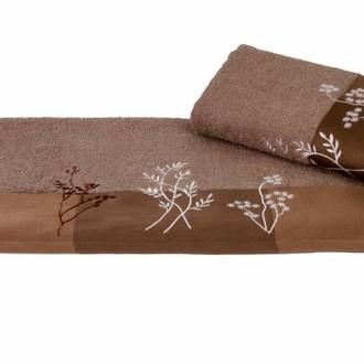 Полотенце Hobby FLORA коричневый