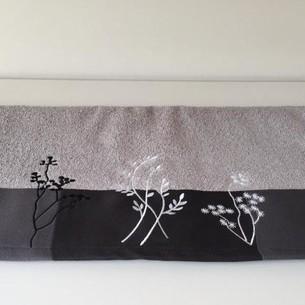 Полотенце Hobby FLORA светло-серое 70х140