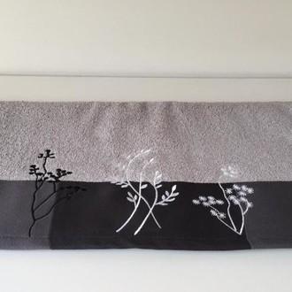 Полотенце Hobby FLORA серый