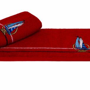 Полотенце Hobby MARINA красный парусник 50х90
