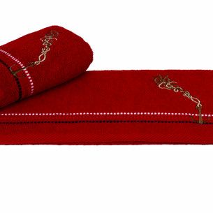 Полотенце Hobby MARINA красный якорь 50х90