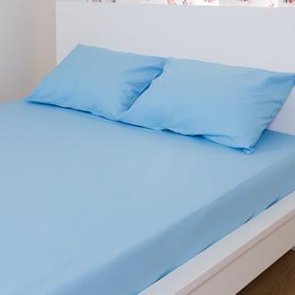 Простынь на резинке с наволочками Hobby синий