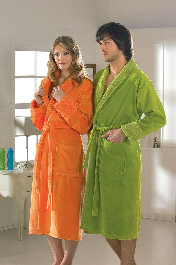 Халат Hobby ANGORA оранжевый S, фото, фотография