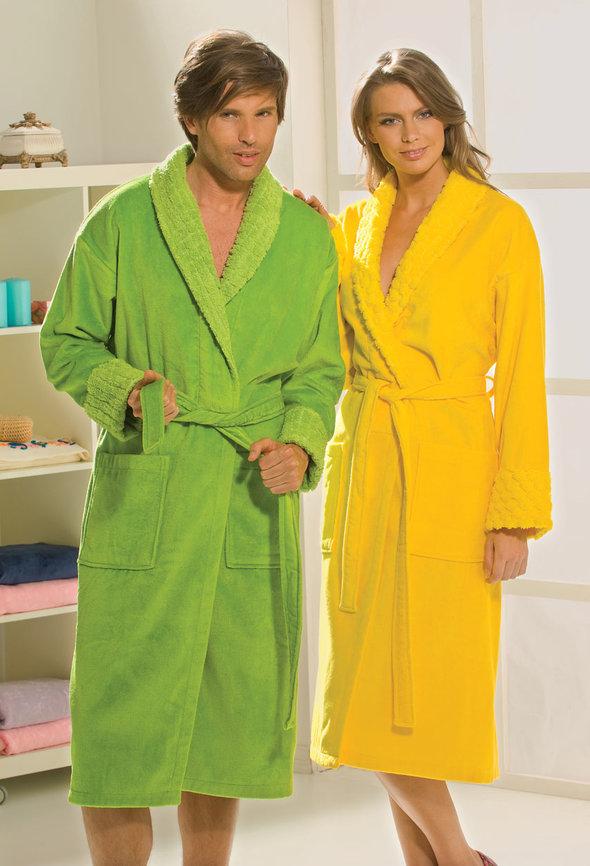 Халат Hobby ANGORA жёлтый L, фото, фотография