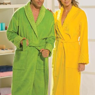 Халат мужской Hobby Home Collection ANGORA хлопковая махра (зелёный)
