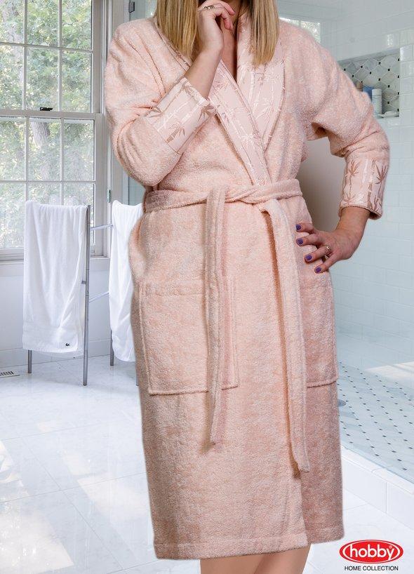 Халат Hobby ELIZA персиковый S, фото, фотография
