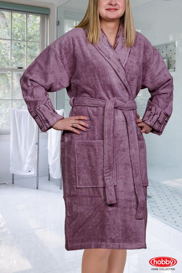 Халат Hobby ELIZA тёмно-фиолетовый L, фото, фотография