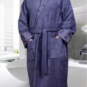 Халат мужской Hobby Home Collection ELIZA бамбуково-хлопковая махра серый XL