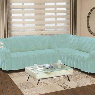 Чехол на диван угловой правосторонний 2+3 Bulsan бирюзовый