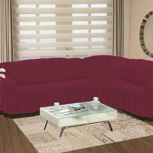 Чехол на диван угловой правосторонний 2+3 Bulsan светло-лавандовый