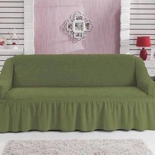 Чехол на диван Bulsan BURUMCUK зелёный трёхместный