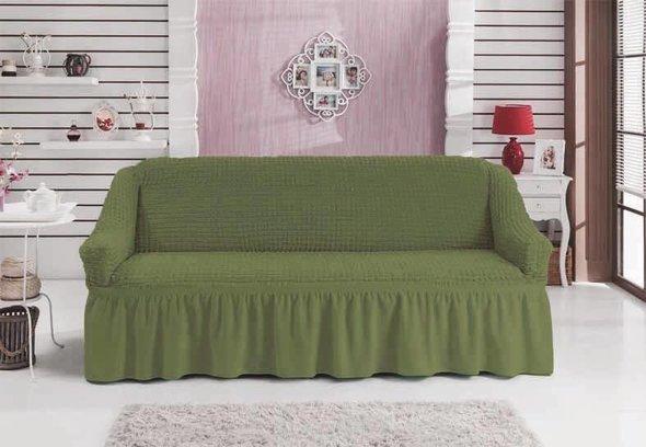 Чехол на диван Bulsan BURUMCUK (зелёный) двухместный, фото, фотография