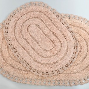 Набор ковриков для ванной Modalin YANA хлопок пудра