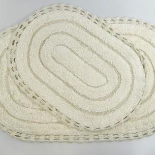 Набор ковриков для ванной Modalin YANA хлопок кремовый
