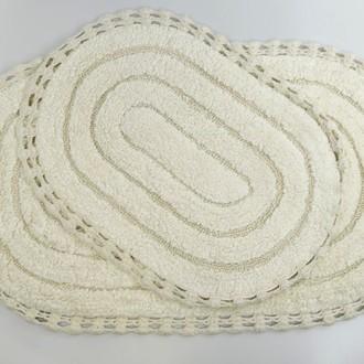 Набор ковриков для ванной Modalin YANA хлопок (кремовый)