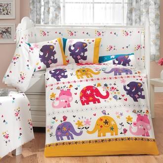 Набор в детскую кроватку для новорожденных Hobby OSCAR белый
