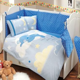 Набор в детскую кроватку для новорожденных Hobby SLEEPER синий