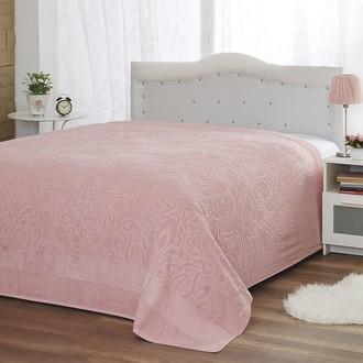 Махровая простынь, одеяло, покрывало Modalin MEDUSA розовый