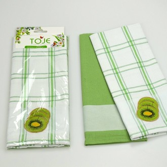 Набор полотенец Pinar ANDORA зелёный V2