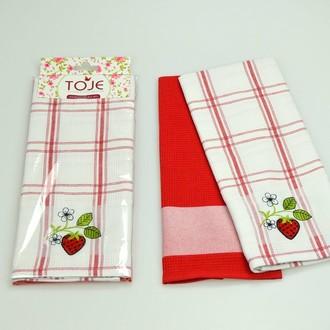 Набор полотенец Pinar ANDORA красный V2